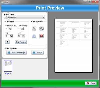 SSuite Label Printer