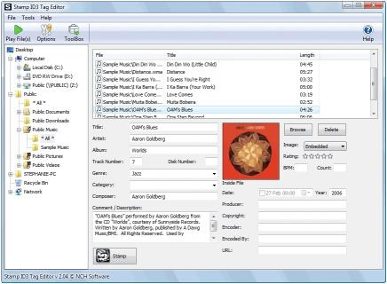 Download Stamp Free ID3 Tag Editor