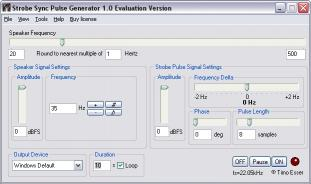 Download Strobe Sync Loudspeaker Test Software