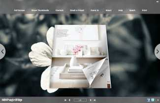 Summer Flower Style Theme for 3D Book