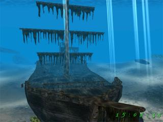 Download Sunken Ship 3D Screensaver