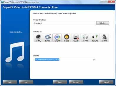 SuperEZ Video to MP3 WMA Converter Free
