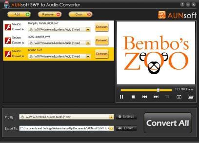 Download SWF to Audio converter