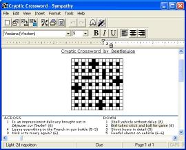 Download Sympathy Crossword Construction