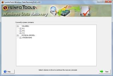 SysInfoTools Windows Data Recovery Tool