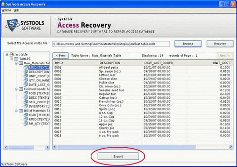 Download SysTools Access Recovery