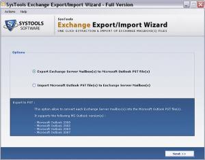 Download SysTools Exchange Export Import Wizard