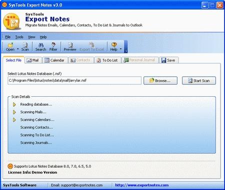 Download SysTools Export Notes