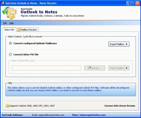 Download SysTools Outlook to Notes