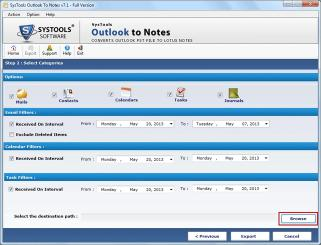 Download SysTools Outlook to Notes Converter