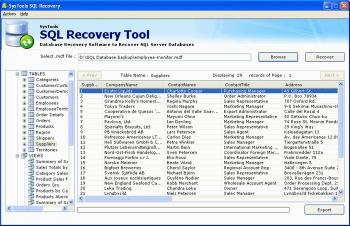 Download SysTools SQL Recovery