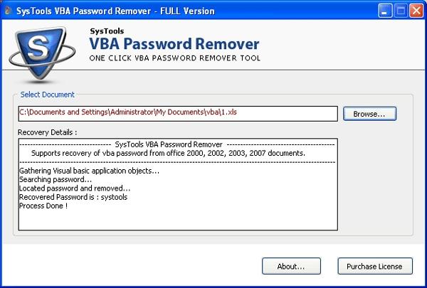 SysTools VBA Password Remover - standaloneinstaller com