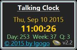 Download Talking Clock