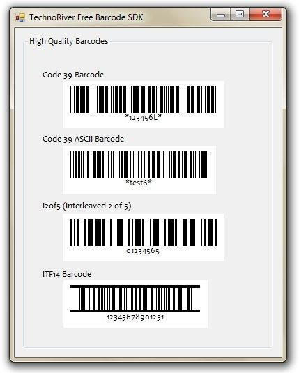 Download Technoriver Free Barcode SDK