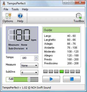 Download TempoPerfect Free Computer Metronome