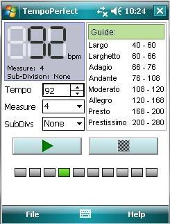Download TempoPerfect Metronome For Pocket PC