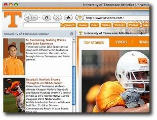 Download Tennessee Vols IE Browser Theme