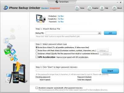 Tenorshare iPhone Backup Unlocker Std