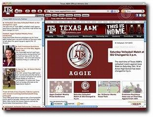 Download Texas A&M Aggies IE Browser Theme