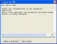 Download Text To PDF COM/SDK