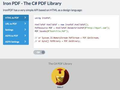 Download The C# PDF Library
