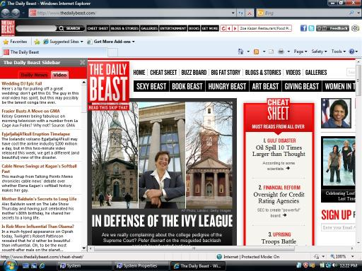 Download The Daily Beast Internet Explorer Theme