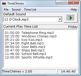 TimeChimes Automated Audio Player - standaloneinstaller com