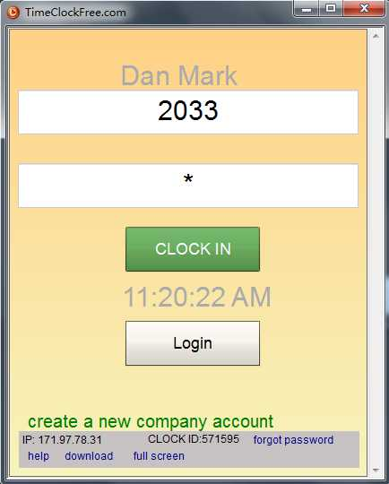 Download TimeClockFree
