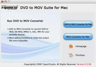 Tipard DVD to MOV Suite for Mac