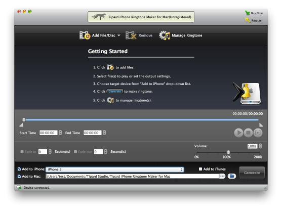 Download Tipard iPhone Ringtone Maker for Mac