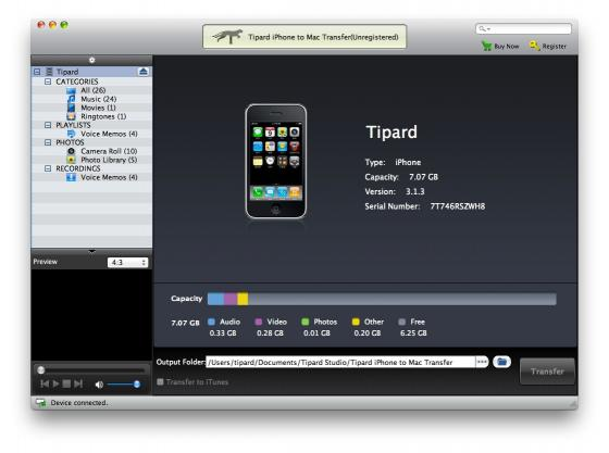 Download Tipard iPhone to Mac Transfer