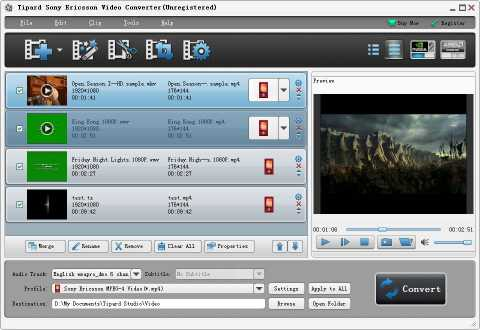 Tipard Sony Ericsson Video Converter