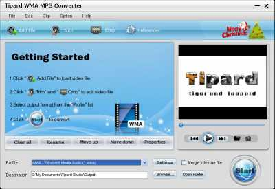 Download Tipard WMA MP3 Converter