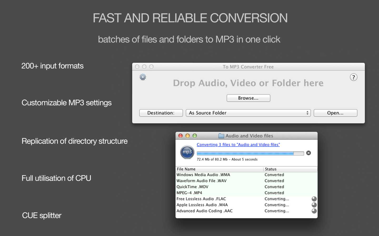 Download To MP3 Converter Free for Mac OS X