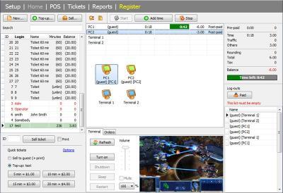 Download TrueCafe. Internet cafe software