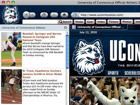 Download UCONN Huskies IE Browser Theme