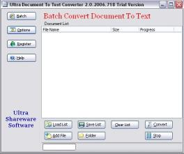 Download Ultra Document To Text ActiveX Component