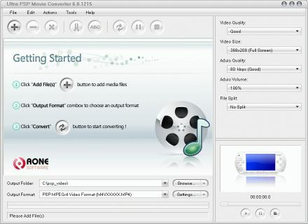 Download Ultra PSP Movie Converter