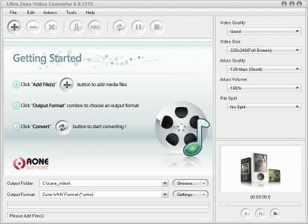 Download Ultra Zune Video Converter