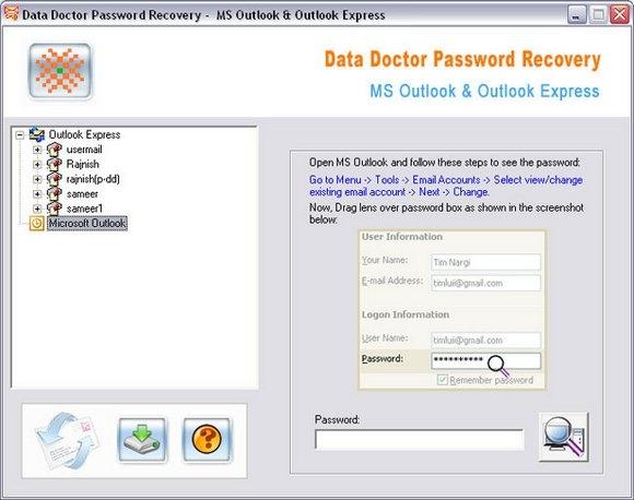 Unmask Outlook Password - standaloneinstaller com