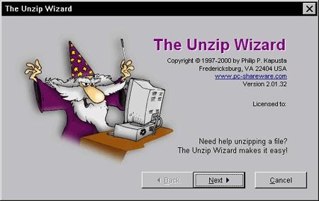 Unzip Wizard - standaloneinstaller com