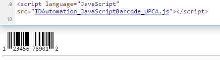 UPC-A and EAN-13 JavaScript Generator