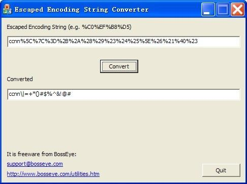 Download URL Escaped Encoding Decoder