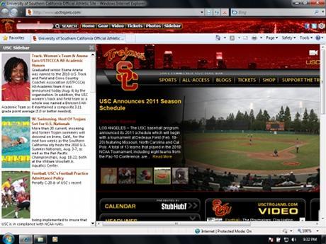Download USC Trojans IE Browser Theme