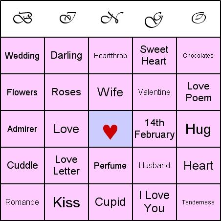 Download Valentine Bingo