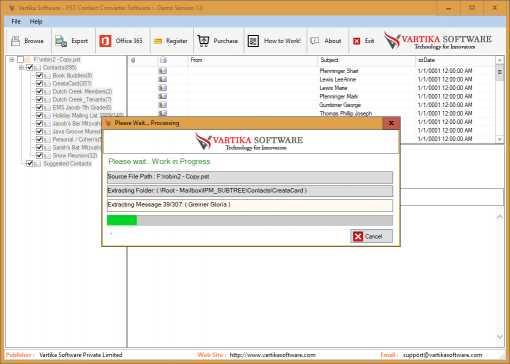 Vartika PST Contact Converter