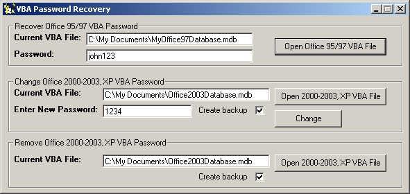 VBA Password Recovery - standaloneinstaller com