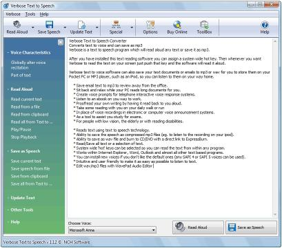 Download Verbose Text to Speech Software