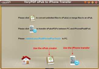 VeryPDF ePub to iPhone Transfer