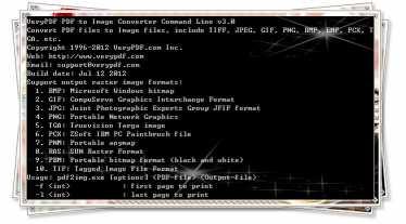 VeryPDF PDF to Image Converter CMD